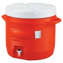 Rubbermaid Commercial 1655-01-11 7 Gal Orange Plastic Water Cooler 1655