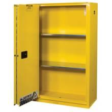 Justrite 894580 45 Gal Ylw Safety Cabinet 1-Sliding Door