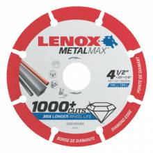 "Lenox 1972921 Lenox Diam Cutoff Wh Ag4.5"" X 7/8""  Angle Grind"