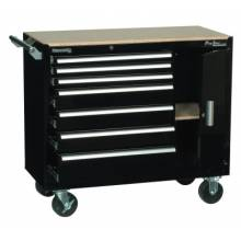 """Kennedy 10491BK 39"""" 7-Drawer Roller Cabinet W/Side Compartment"""