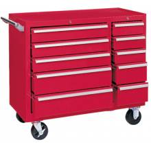 """Kennedy 310XR 39"""" 10-Drawer Industrialdouble-Bank Roller Cab."""
