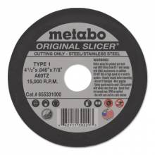 "Metabo 655331000 4 1/2"" X 7/8 T1 Slicer Wheel A60Tz"