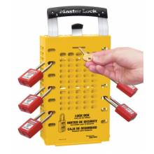 Master Lock 503YLW Yellow Latch Tight Grouplock Box