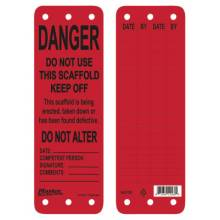 Master Lock S4700 Red Scaffold Tag - Do Not Use This Scaffold