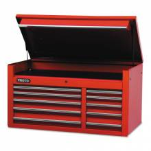 """Proto 455027-10RD 50"""" Chest 10 Drws Red"""