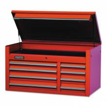 """Proto 455027-8RD 50"""" Chest 8 Drws Red"""