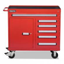 Proto 464542-6RD-1S 460 Series Workstation 6Drawer 1 Shelf Red