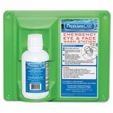 First Aid Only 24-000 Wall Mountable Eye Flushstation Sgl 16 Oz. Btl (1 EA)