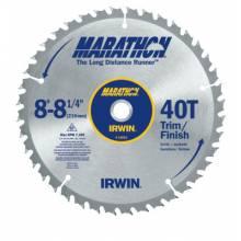 Irwin Marathon 14053 8In - 8-1/4In X 40T Trim/Finish Universal Arbor (1 EA)