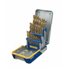 Irwin 3018003 29 Piece Drill Bit Industrial Set Case Ti-N Coat