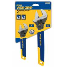"Irwin Vise-Grip 2078700 2 Piece Adjustable Wrench Display (6"" & 10"")"