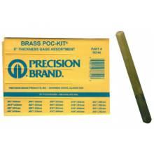 "Precision Brand 76740 1/2"" X 5"" Brass Thickness Gage Poc-Kit Asst"