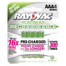 Rayovac PL724-4 GENB Platinum Lsd Nimh Aaa- 4Pack (6 EA)