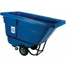 Rubbermaid Commercial 1305-73-BLUE Recycling Tilt Truck Stnd Duty Rotational Molded