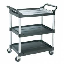 "Rubbermaid Commercial 3424-BLA Utitliy/Service Cart Black 33-5/8""L X 18-5/8""W X"
