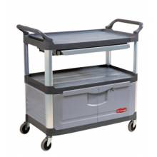 """Rubbermaid Commercial 4095-BLA X-Tra Equip Cart 40-5/8""""X20-3/4""""X37-7/8"""