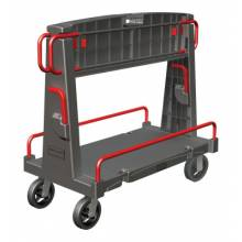 Rubbermaid Commercial 4465-BLA Convertible A-Frame Truck  24X44