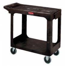 Rubbermaid Commercial 4505-BLA 500 Lb Capacity Flat Shelf Cart Black