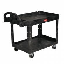 "Rubbermaid Commercial 4520-88-BLA 500 Lb 2 Shelf Utilty Cart 45-1/4X25-7/8X33-1/4"""