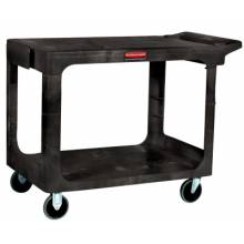 Rubbermaid Commercial 4545-BEIG Hd Flat 2 Shelf Utilitycart Large