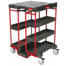 Rubbermaid Commercial 9T57 Black 500Lb. Capacity Ladder Cart