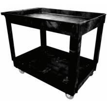 "Rubbermaid Commercial 9T67 2 Shelf Cart W/4"" Casters"