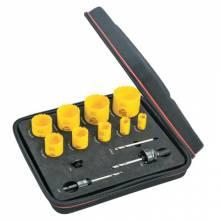 L.S. Starrett KDC09051-N Dch Gen Purpose Kit W/9Holesaws & 4 Accessories