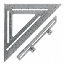 Swanson Tools S0107 Big 12 Aluminum Speed Square W/Black Gra