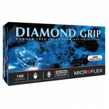 Microflex MF-300-L Diamond Grip Pf Latex Exam Large (100 EA)