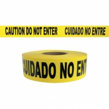 Presco B3102Y9 Caution Do Not Enter - Yellow 2Mil (8 EA)