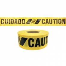 "Presco SBR35XY13 Reinforced Caution Cuidado Tape 3"" X 500' (1 RL)"