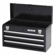 "Waterloo MP-2012BK 20"" 3-Drawer Portable Chest - Black"