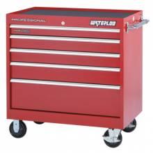 Waterloo PCA-40524RD 40 X 24 Red Hd 5 Drawerroller Cabinet