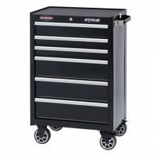"""Waterloo WCA-266BK 26"""" 6-Drawer Cabinet - Black"""