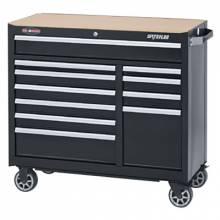 """Waterloo WCA-4111BK 41"""" 11-Drawer Cabinet -Black"""