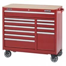 "Waterloo WCA-4111RD 41"" 11-Drawer Cabinet -Red"