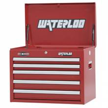 """Waterloo WCH-265RD 26"""" 5-Drawer Chest - Red"""