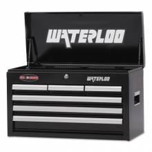 """Waterloo WCH-266BK 26"""" 6-Drawer Chest - Black"""