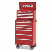"""Waterloo WCH-266RD 26"""" 6-Drawer Chest - Red"""