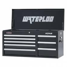 """Waterloo WCH-418BK 41"""" 8-Drawer Chest - Black"""