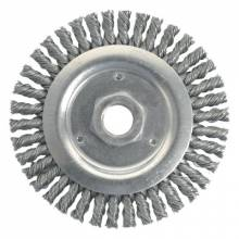"""Weiler 79801 Dually 4-1/2"""" Root Passbrush- .020 Steel Wire"""