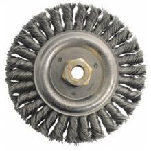 """Weiler 79804 Dually 6"""" Filler Pass Brush- .023 Steel Wire- 5/"""