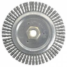 "Weiler 79805 Dually 6"" Root Pass Brush- .020 Steel Wire- 5/8"