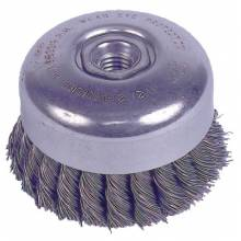 "Weiler 94012 4"" Double Knot Cup Brush.023 5/8""-11 A.H."