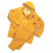 West Chester 4035/XXXL 35Ml Pvc Over Poly 3Pcsrain Suit-Yellow
