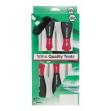 Wiha Tools 30295 5-Piece Softfinish Mechanics Screwdriver Set