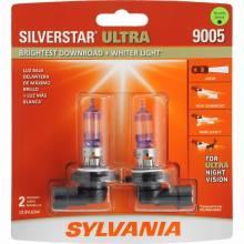 SYLVANIA 9005 SilverStar Ultra High Performance Halogen Headlight Bulb, (Contains 2 Bulbs)
