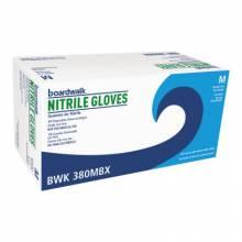 Boardwalk BWK380MBX Nitrile 4 Mil Blue Pfsp Gloves Med (100 EA)