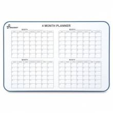 """AbilityOne 7110015550295 SKILCRAFT Dry-erase Wallboard Calender with Hangers - Monthly - 24"""" x 36"""" - Aluminum Frame - White"""
