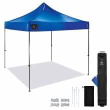 Shax 6000 Single Blue Heavy-Duty Pop-Up Tent - 10ft x 10ft